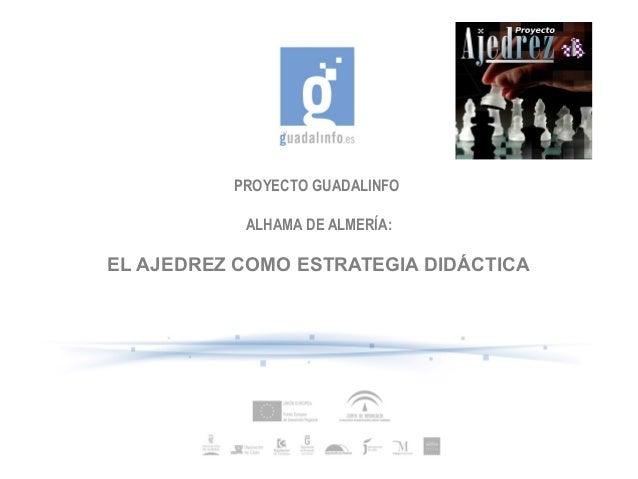 PROYECTO GUADALINFO ALHAMA DE ALMERÍA:  EL AJEDREZ COMO ESTRATEGIA DIDÁCTICA