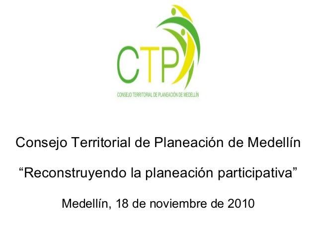 Presentación en encuentro nacional de planeación local y pp
