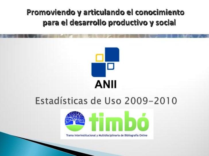 Presentación estadísticas Timbó