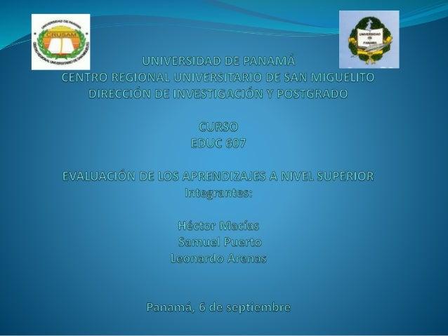 Introducción  El curso de Evaluación de los Aprendizajes a nivel  Superior, es un curso teórico práctico que ofrece al  fu...