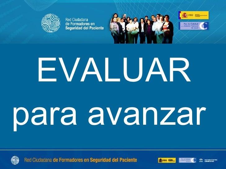 Evaluación de la estrategia formativa de la Red ciudadana de formadores en seguridad del paciente