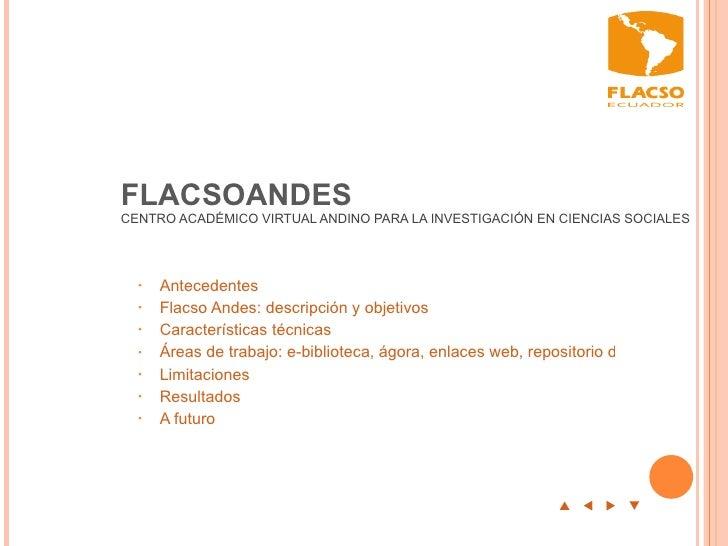 Centro Académico Virtual Andino FLACSO ANDES