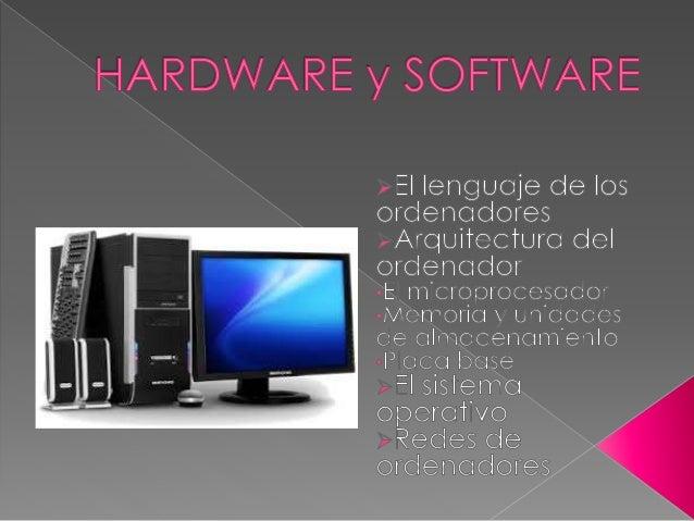 El ordenador está formado por partes físicas que reciben el nombre de hardware. Además, dispone de datos e instrucciones p...