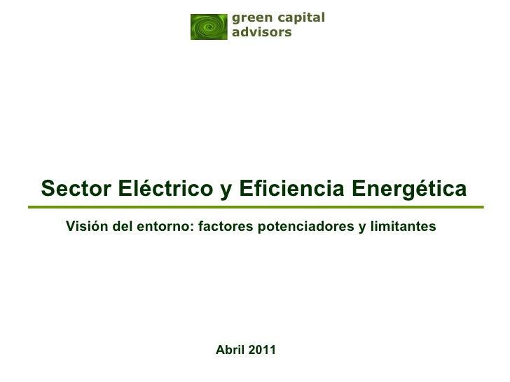 Eficiencia & Sector Eléctrico: factores de Análisis 20110404