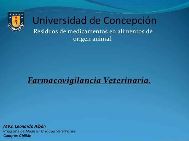 Presentación farmacovigilancia veterinaria