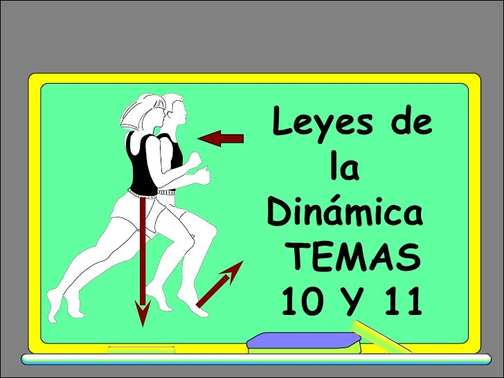 Leyes de la  Dinámica  TEMAS 10 Y 11