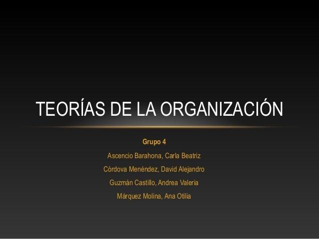 Grupo 4Ascencio Barahona, Carla BeatrizCórdova Menéndez, David AlejandroGuzmán Castillo, Andrea ValeriaMárquez Molina, Ana...