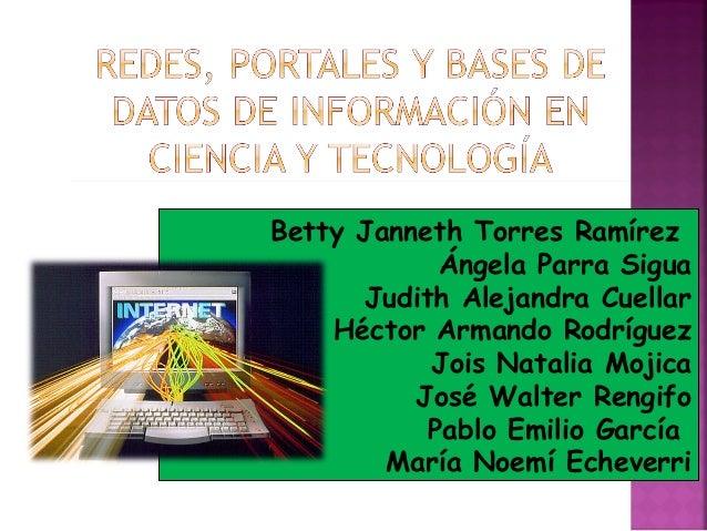Betty Janneth Torres Ramírez Ángela Parra Sigua Judith Alejandra Cuellar Héctor Armando Rodríguez Jois Natalia Mojica Jo...
