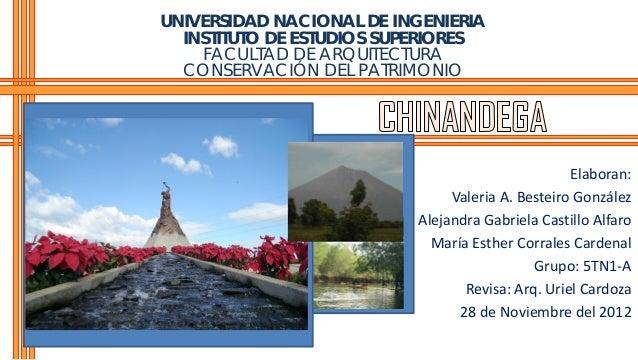 UNIVERSIDAD NACIONAL DE INGENIERIA  INSTITUTO DE ESTUDIOS SUPERIORES    FACULTAD DE ARQUITECTURA  CONSERVACIÓN DEL PATRIMO...