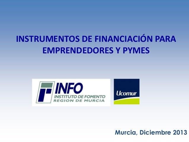 Financiación oct 2013 Jornadas Ucomur