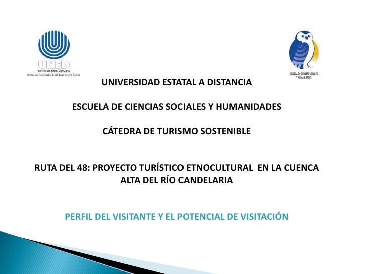UNIVERSIDAD ESTATAL A DISTANCIA       ESCUELA DE CIENCIAS SOCIALES Y HUMANIDADES              CÁTEDRA DE TURISMO SOSTENIBL...