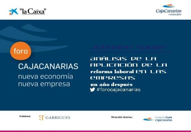 """Presentación Carlos Pinilla en la Jornada """"Análisis de la Aplicación de la Reforma Laboral en las empresas un año después"""" 20 Marzo 2013"""