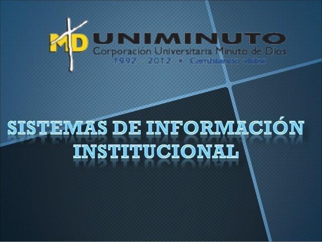 Nuestra MisiónEl Sistema Universitario UNIMINUTO inspirado en el Evangelio, laespiritualidad Eudista y la Obra Minuto de D...