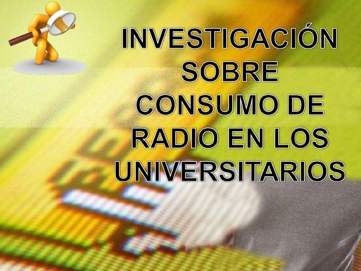 Presentación General Radio