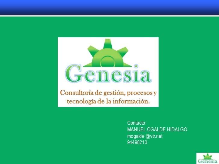 PresentacióN Genesia 2012