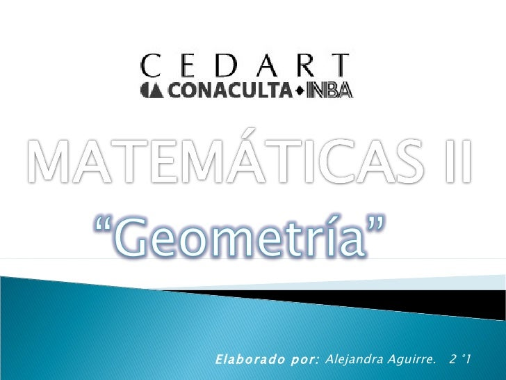 Matemáticas II - Geometría