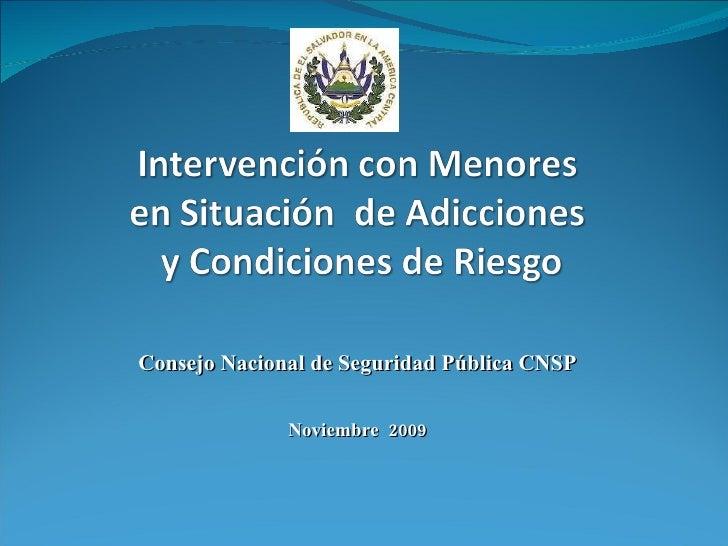 Consejo Nacional de Seguridad Pública CNSP Noviembre  2009
