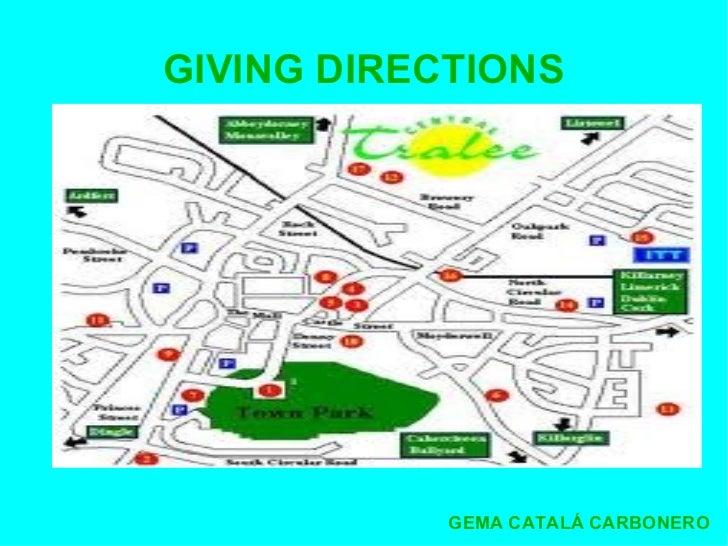 Presentacin Giving Directions