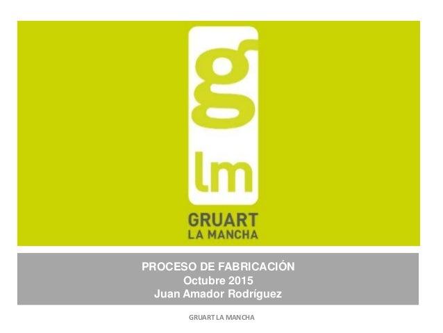 PROCESO DE FABRICACIÓN Octubre 2015 Juan Amador Rodríguez GRUART LA MANCHA