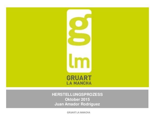 HERSTELLUNGSPROZESS Oktober 2015 Juan Amador Rodríguez GRUART LA MANCHA