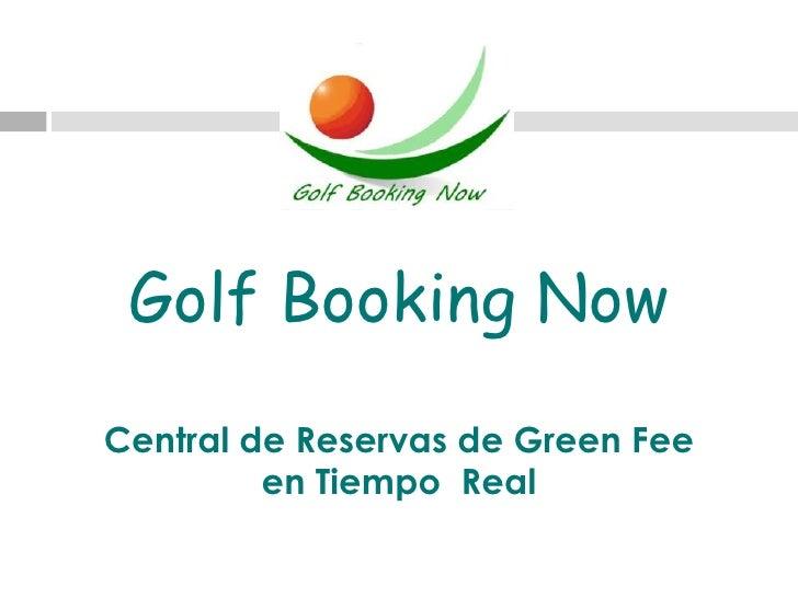 Presentación golf booking now