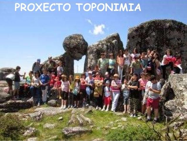PROXECTO TOPONIMIA