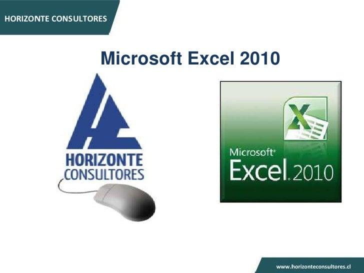 Presentación horizonte consultores excel basico