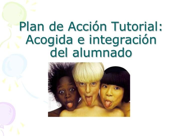 Presentación plan acción tutorial