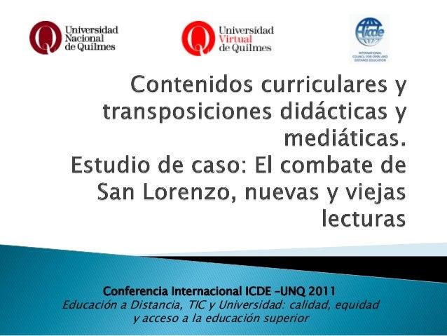 Presentación ICDE- UNQ 14_04_2011