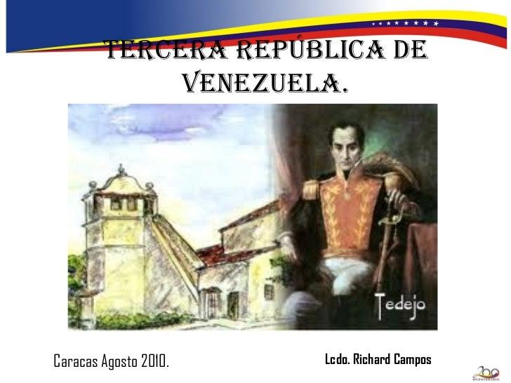 Las cinco República de Venezuela