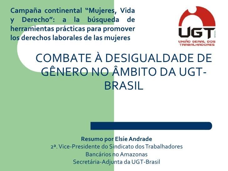 Presentación incidencia política   ugt brasil