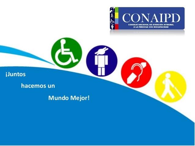 Presentación Informar sobre las personas con discapacidad