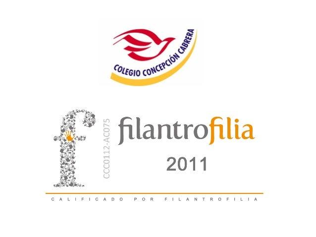 Filantrofilia es una asociación civil que tiene como objetivoprincipal maximizar el impacto de la filantropía en Méxicomed...