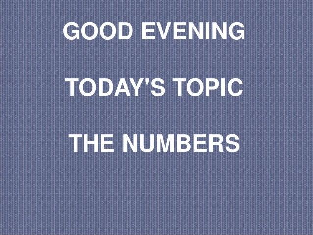 Presentación inglés numbers