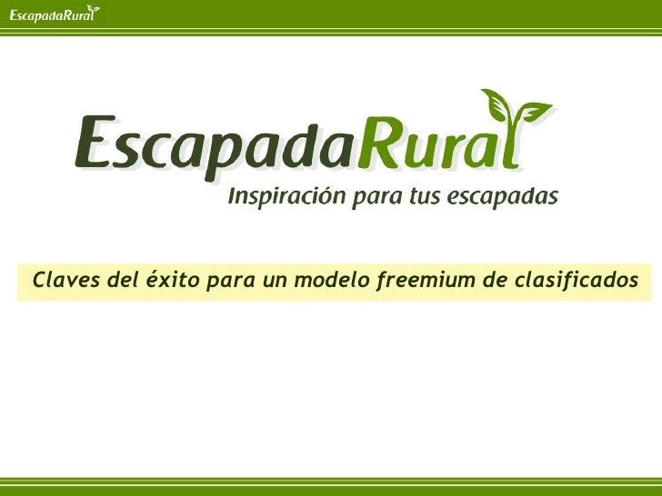 Presentación Iniciador Barcelona escapadarural