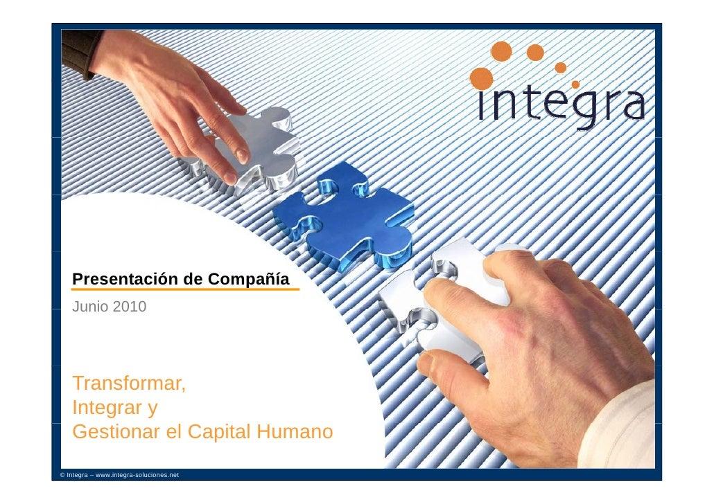 Integra - Presentación corporativa