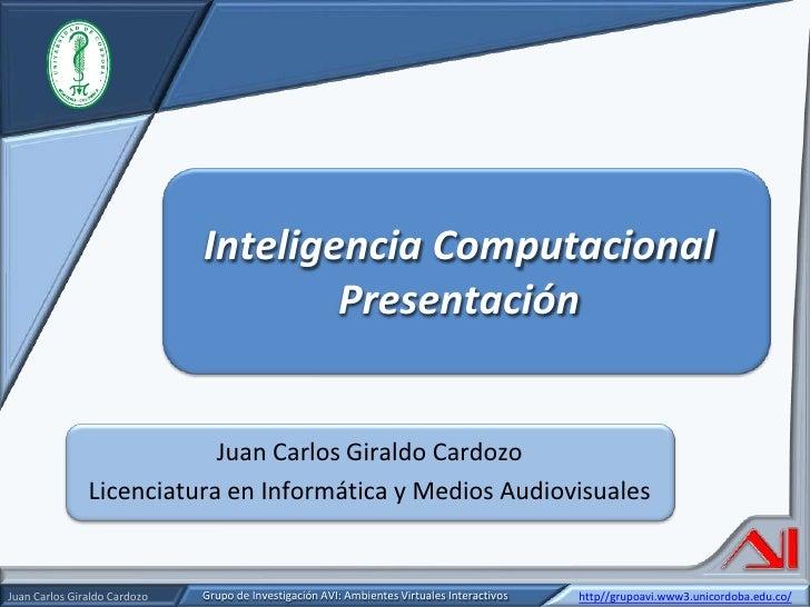 Presentación inteligencia computacional