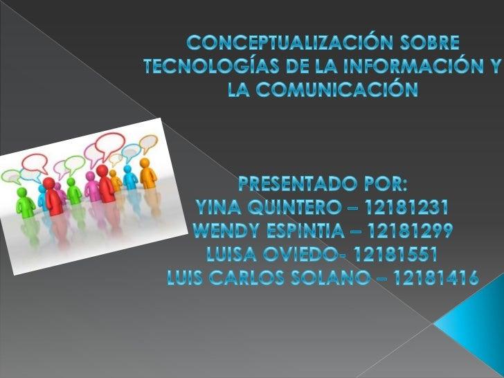 Presentación internet