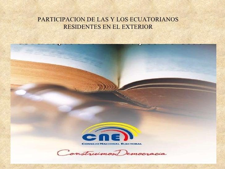 Consejo Nacional Electoral - CPCCS