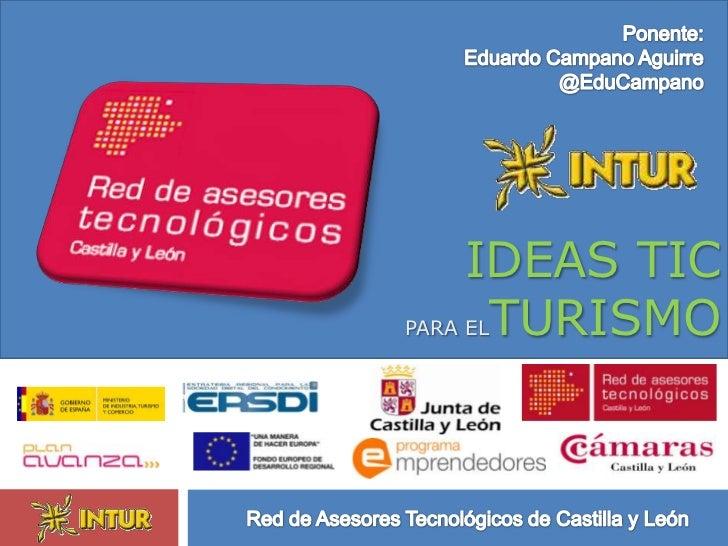 IDEAS TICPARA ELTURISMO