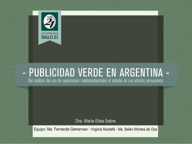 Publicidad Verde en Argentina