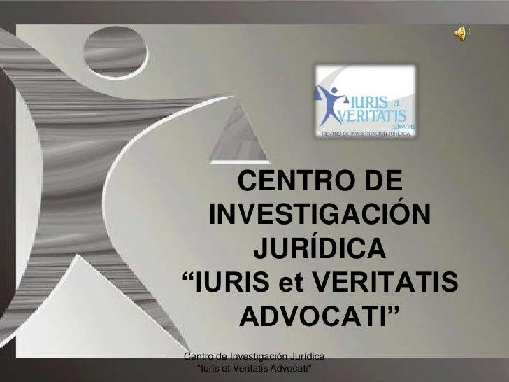 Presentación iuris veritatis 2009  formato miller
