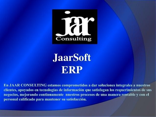 JaarSoft ERP