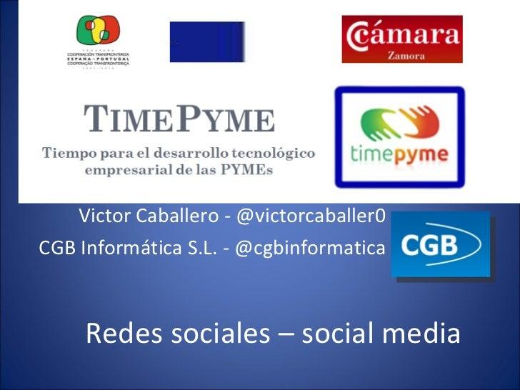 Presentación Jornada Redes Sociales en el Mundo Empresarial -Benavente - 29 de noviembre -