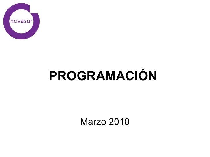 PROGRAMACIÓN  Marzo 2010