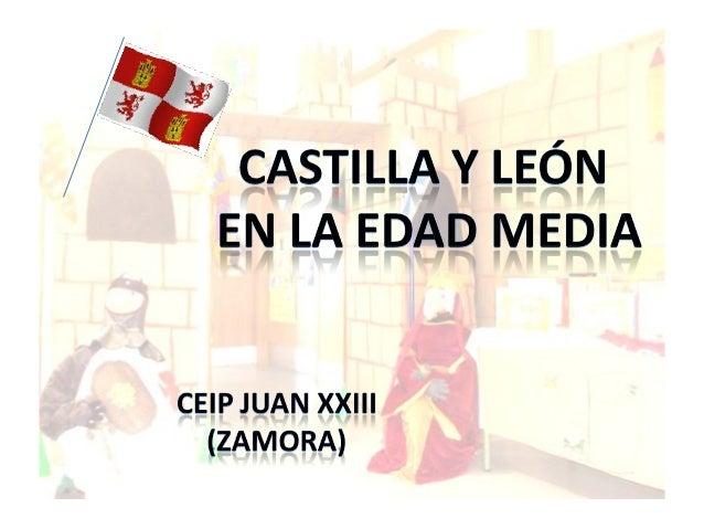 En el CEIP Juan XXIII hemos querido celebrar el díade Castilla y Leónvolviendo unos cuantos siglos atrás, hasta la EdadMed...