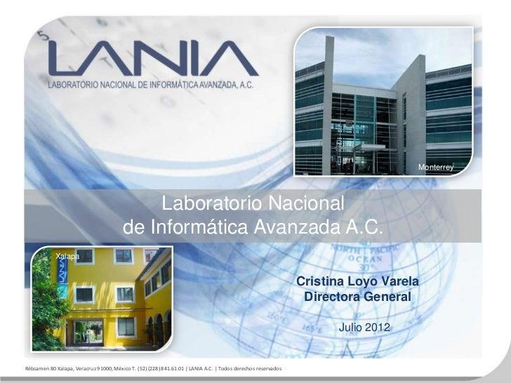Monterrey                                             Laboratorio Nacional                                        de Infor...