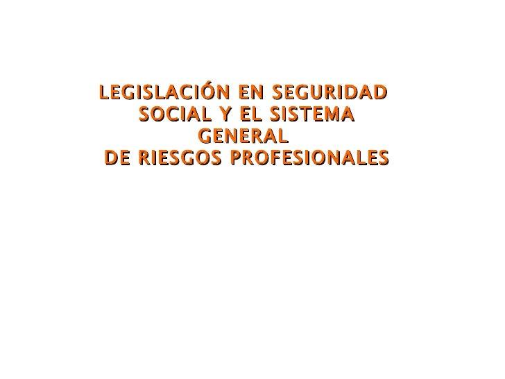 Presentación legislación