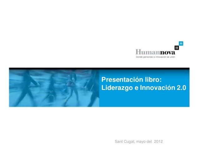 Presentación libro: dolor          Lorem ipsum          sit amet um dares          Lorem ipsum dolofLiderazgo e Innovación...