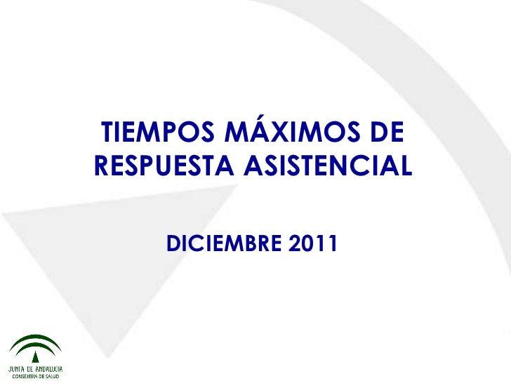 Presentación listas de espera 2º corte 2011 rueda prensa